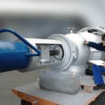 Engineer checking valve glasses extended